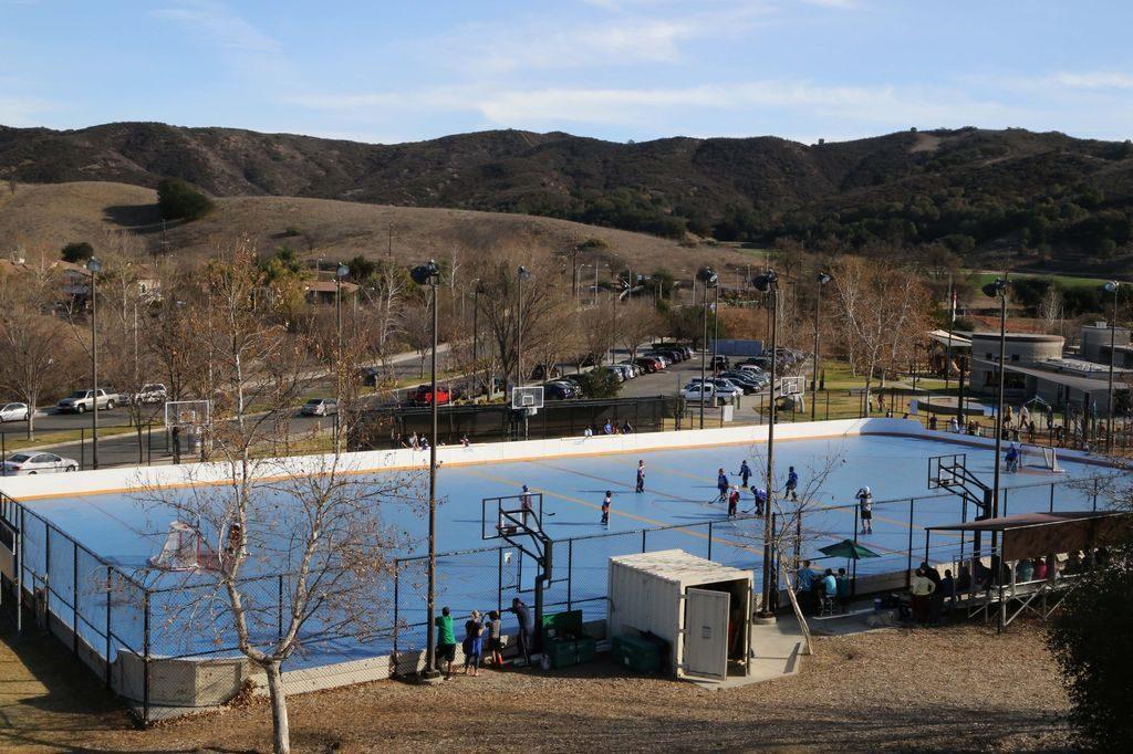 The rink at Juan Bautista de Anza Park in Calabasas.