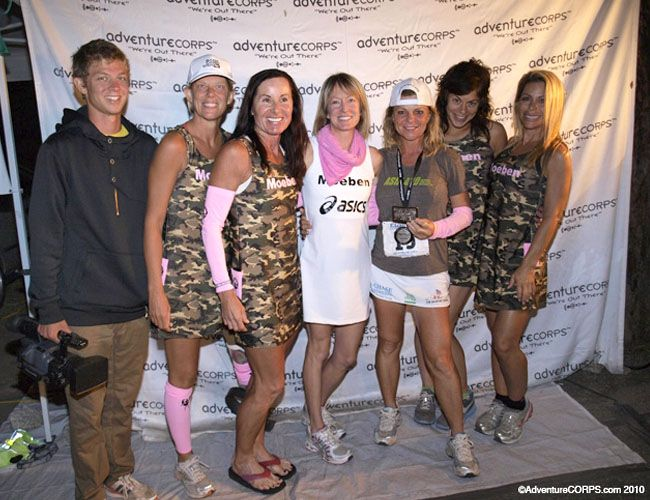 Shannon Farar-Griefer (third from the right) after finishing the Badwater Death Valley race in 2010.