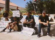 Students Protest Columbus Statue on Columbus Day