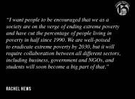 Senior Rachel Hews Drives Poverty Awareness Campaign