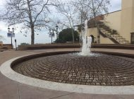 Plaza Fountain Turns On After University Decision