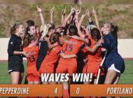 Pepperdine's Women Soccer wins WCC championship