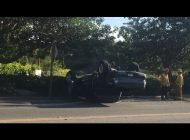 Two Cars Flip Over in One Day