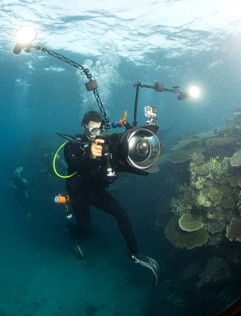 Director Jeff Orlowski filming on the GBR Photo by Richard Vevers © Chasing Coral.jpg