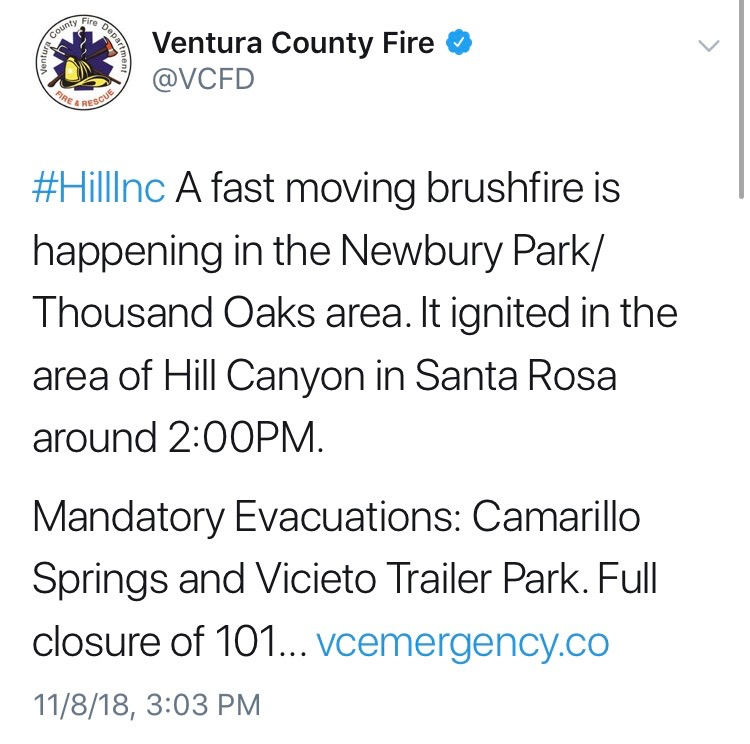 Ventura County Wildfires Spreads Southwest Pepperdine Graphic