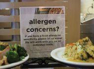 Waves Cafe Posts New Signage Regarding Nut Allergies