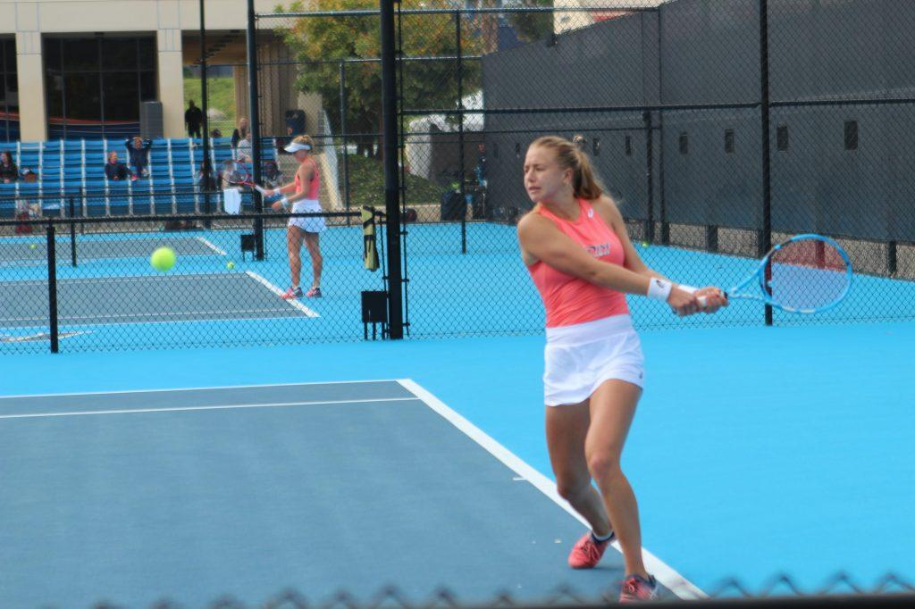 Lisa Zaar is part of a new generation of international tennis players that view NCAA tennis as a positive stepping stone to a pro career. Photo by Paxton Ritchey