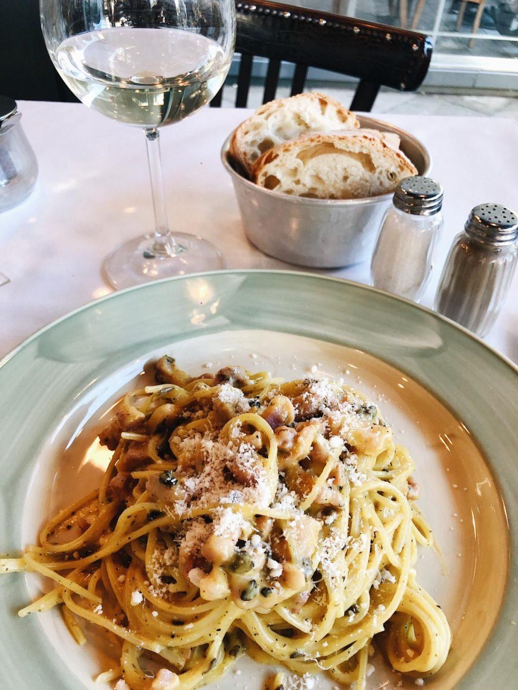 Camryn Moss' favorite meal from Trattoria Za Za, a restaurant in Florence, is spaghetti carbonara with truffle. Photo courtesy of Camryn Moss.
