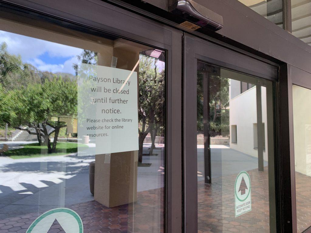 Payson Library closed March 20 after Pepperdine changed campus policies to comply with California's stay-at-home order.