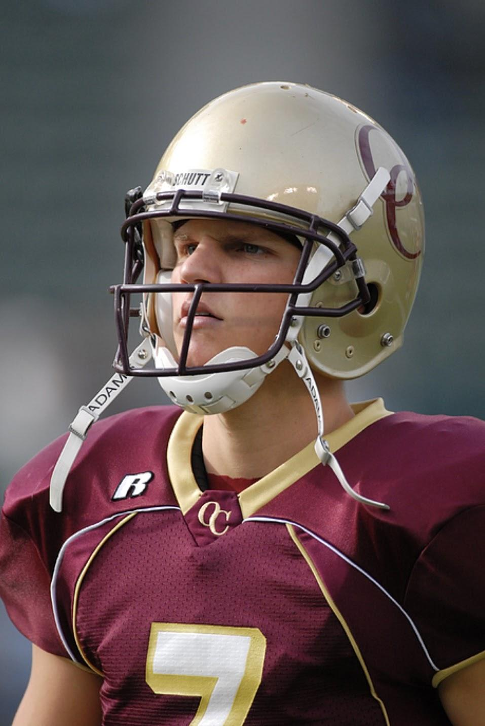 "Oaks Christian's most decorated player — Jimmy Clausen. He went 42–0 as a four-year starter for the Lions, was a U.S. Army All-American and played at Notre Dame. After five forgettable seasons in the NFL, Clausen is widely known as a draft ""bust."" Photo courtesy of Icon Sports Wire"