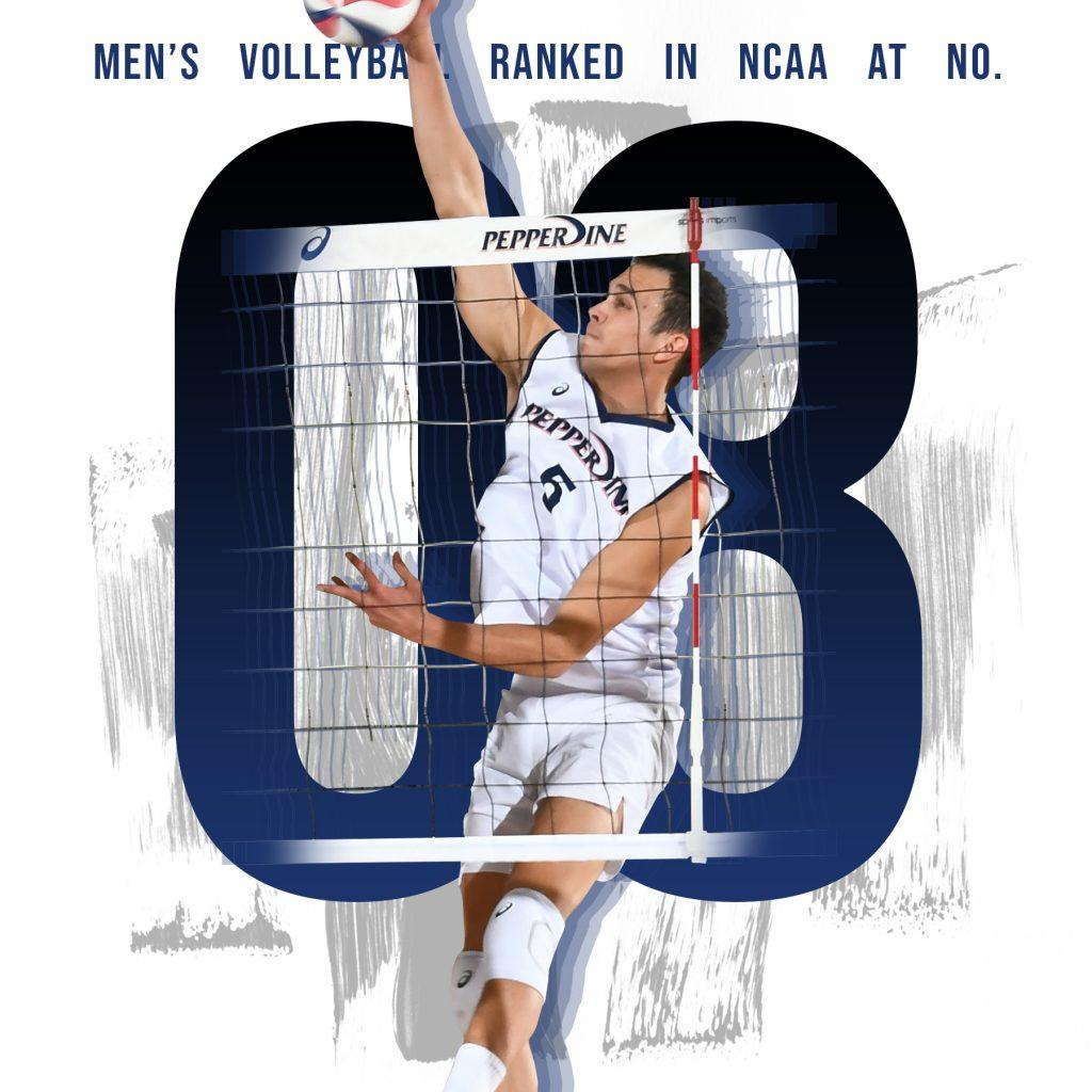 Senior outside hitter Noah Dyer led a young team to the #8 ranking in the NCAA.