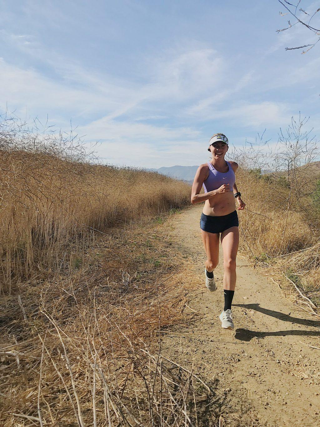 Floris goes for a run during a training session in Chino Hills State Park.