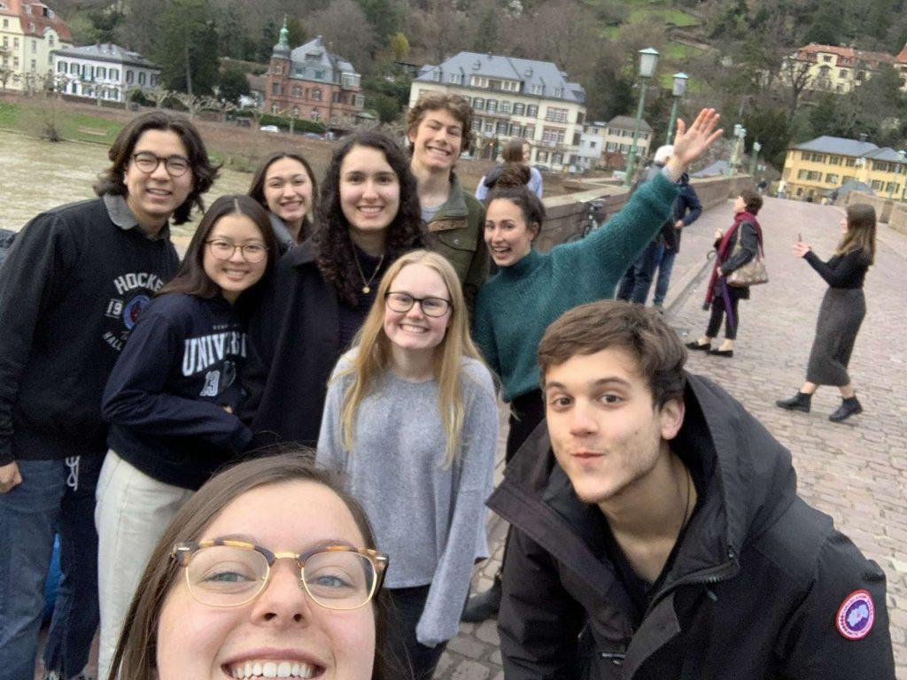 Morehead, Streva and friends take advantage of their last few days together in Heidelberg. Photo courtesy of Sarah Morehead