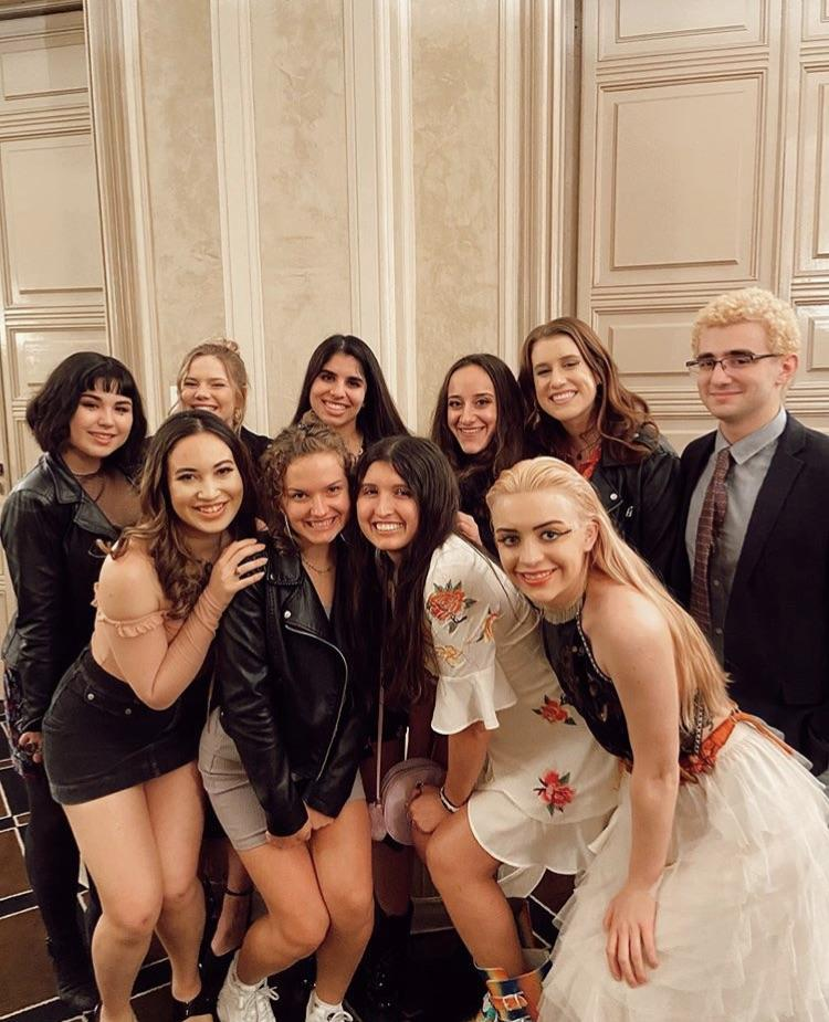 A group of Florence students pose for a final photo at the program's formal banquet before leaving to return home. Photo courtesy of Alyssa Rabie