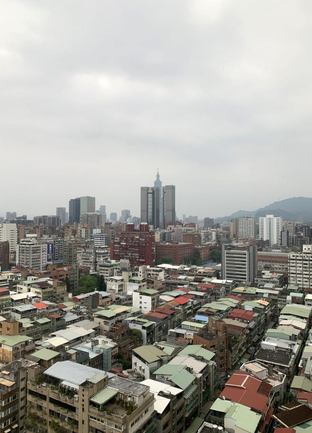 Taipei 101 rises from the Taipei skyline, with empty streets stretching out before it. The lack of people and traffic has allowed other noises, like birdsong, to be heard in the capital for the first time in decades. Photo courtesy of Hannah Tu