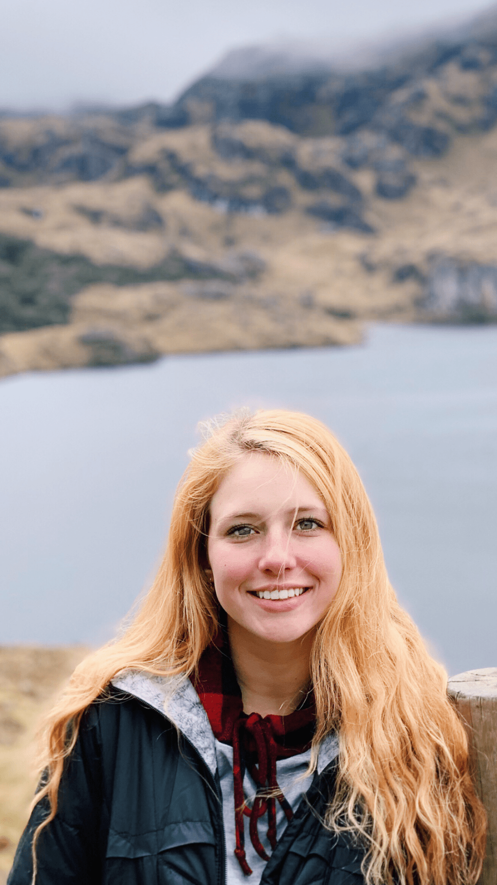 Cannon poses in Cajas, a national park in Ecuador. She visited her family in the country for the summer, as she is originally from Ecuador and moved to the United States when she was young.