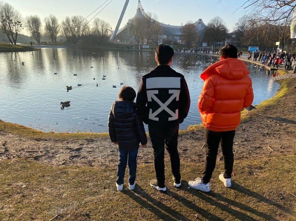 Humato (middle) admires the park scenery with his younger brother Bryant and older brother Bara in Zurich, Switzerland, in January 2020. He has gone on many international trips with his family and hopes to join the International Student Ambassador program at Pepperdine.