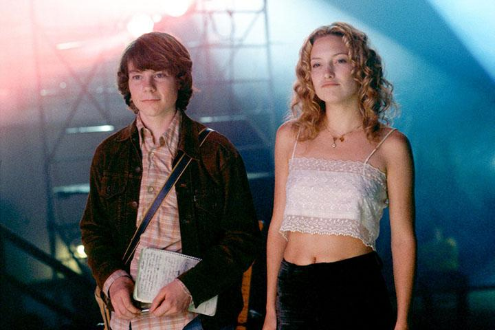 "William (Patrick Fugit) and Penny Lane (Kate Hudson) hang out backstage at a Stillwater show. ""Almost Famous"" is Fugit&squot;s first acting credit, and Hudson earned an Oscar nomination for Best Supporting Actress for her role in the film."