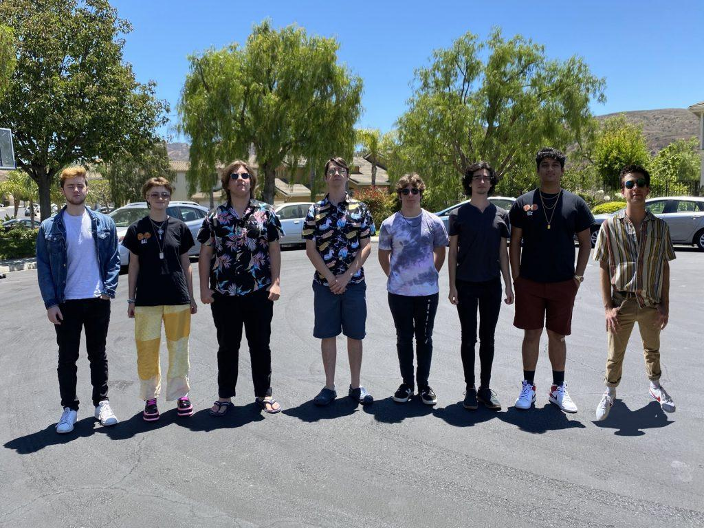 Emrich (fourth from left) stands with his fellow band members in Oak Park, CA, in 2019. Cheach Billin performed in five shows, and Emrich said they look forward to performing more virtual shows during COVID-19.
