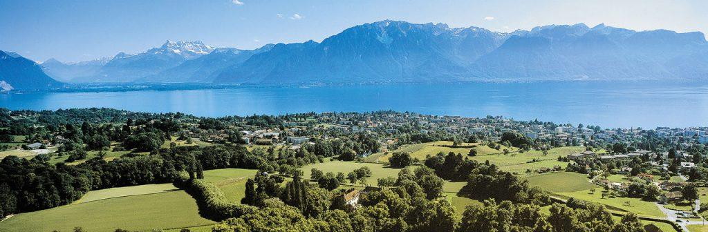 Chateau d'Hauteville overlooks Lake Geneva outside Vevey. The property's renovations will not finish until summer 2023, Pepperdine administrators predicted. Photo courtesy of Riviera Properties Switzerland