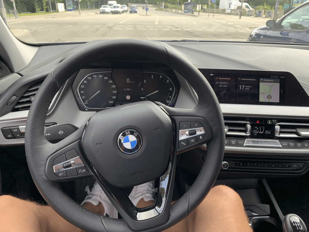 Wieczorek shows off his BMW in Munich, Germany, in September. Wieczorek's team gave every single player a brand new car from one of the team's sponsors. Photo courtesy of David Wieczorek