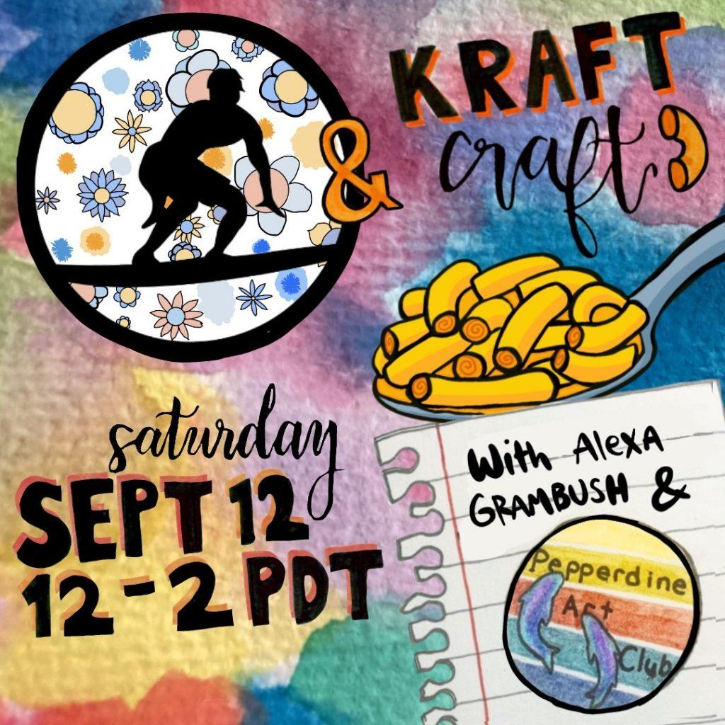 One of the many events Art Club holds is the Kraft & Craft event held virtually Sept. 12. At Kraft & Craft, students learned how to use watercolor paints while they ate mac 'n' cheese. Photo courtesy of Sara Head