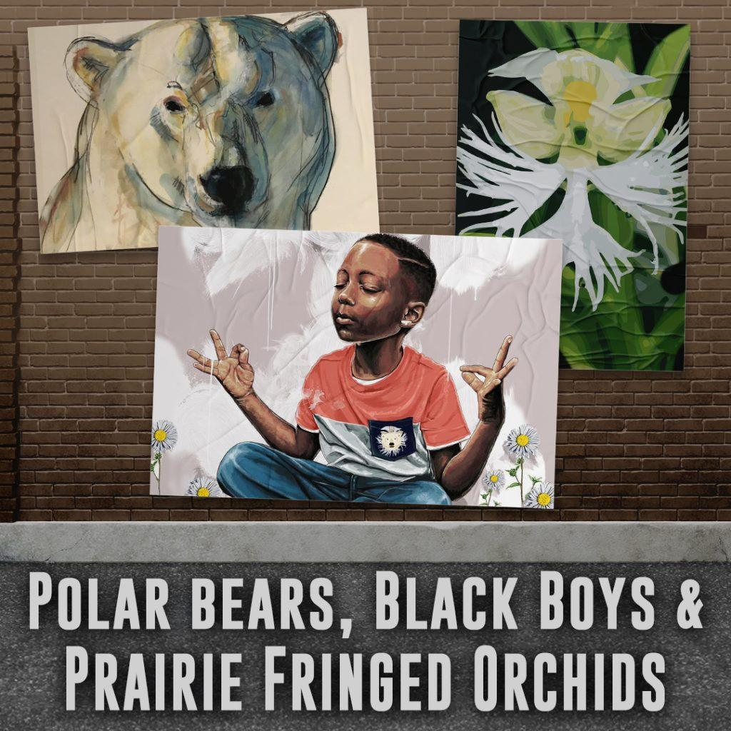 """The poster for """"Polar Bears, Black Boys & Prairie Fringed Orchids"""" features the three aspects of its name. The Pepperdine Theater Department performed the online play from Oct. 1 to Oct. 3. Photos courtesy of Tyler Flynn"""