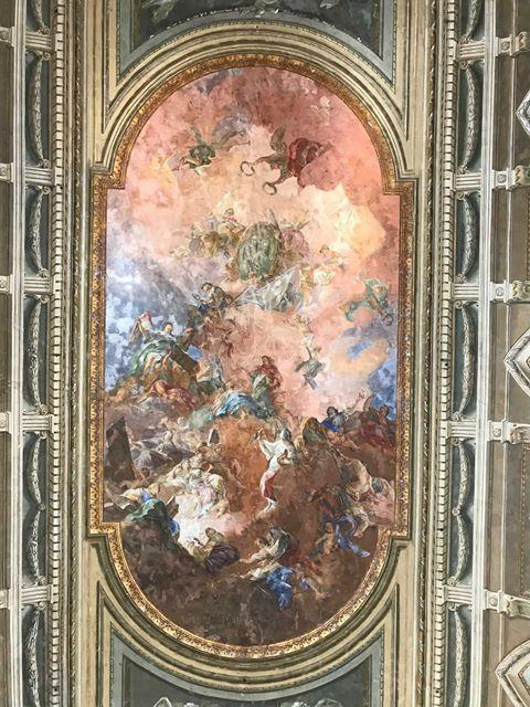 This painting is a fresco found on the ceiling of the Naples National Archaeological Museum in Naples, Italy. During Hannah Schroeder's time abroad last year, her classes allowed her to visit historical museums. Photo courtesy of Hannah Schroeder