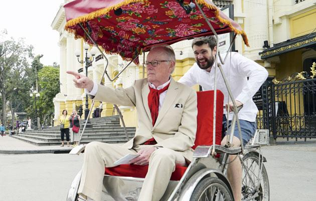 Jack takes Michael around Hanoi, Vietnam, on a special Vietnamese bicycle at the start of the first season. They wore different styles of clothing: Michael preferred a formal suit, while Jack loved casual pieces.