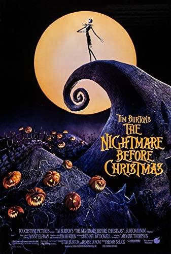 The official Oct. 13, 1993, movie poster shows Jack standing proudly atop Spiral Hill. Disney studio executives originally passed on the film, declaring that the film's style did not fit its image.