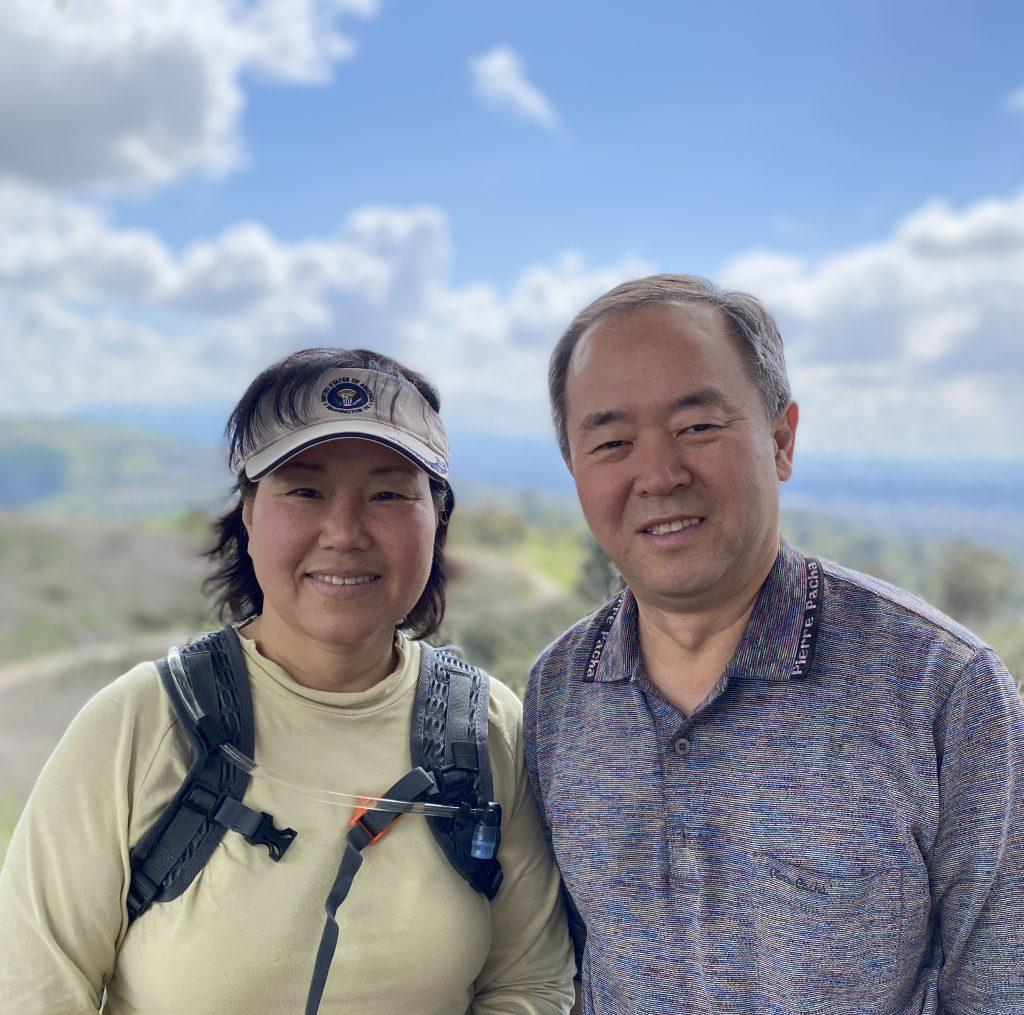 My parents smile together during a hike in California on March 21. They separately immigrated from South Korea and met each other in in the United States while working. Photo by Claire Lee