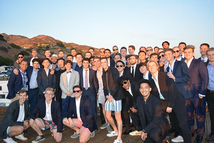 Sigma Phi Epsilon members pose for a picture on the Malibu Pier before their fall 2019 formal. Although social events like this are not possible this semester, the number of students affiliated in Greek life remains consistent with past years. Photo courtesy of Jake Krum