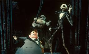"""The Mayor, Jack and the clown smile as they start to weave together their version of Christmas. """"The Nightmare Before Christmas"""" originated in a poem by Tim Burton in 1982 while he was working as an animator at Walt Disney Studios."""