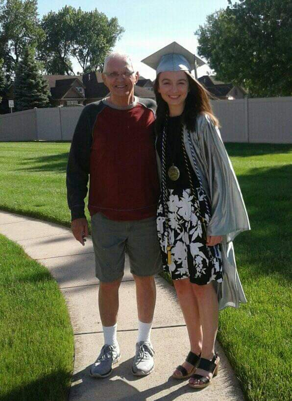 Bendle celebrates her high school graduation in June with her grandfather in Schererville, Ind. After getting accepted, Bendle said everything worked out in favor of going to Pepperdine, even though she wasn't really considering Pepperdine at first.