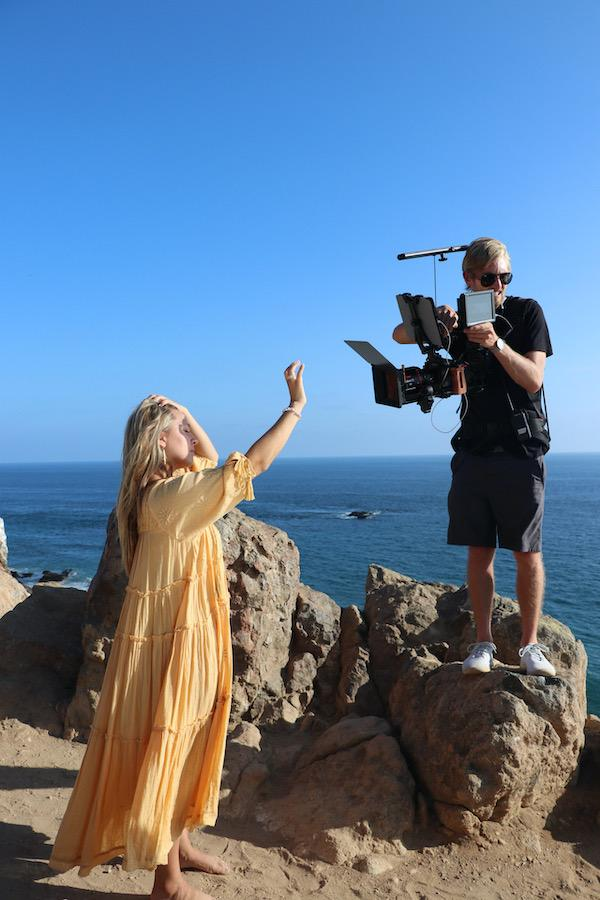 "Piekos shoots the ""Superbloom"" music video in September at Point Dume in Malibu, CA. Piekos said her good friend Brooks Baxter, an alumnus who graduated in 2019, produced the video."