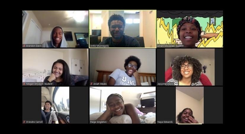 BSA e-board smiles at one of their first semester meetings in May 2020. Although online, meetings and events are still on-going this spring. Photo courtesy of BSA