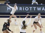 W. Volleyball Sweeps BYU At Home in 3, First Time in a Decade