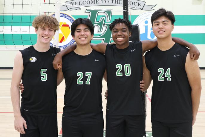 Jackson and his teammates pose at the Eagle Rock Jr./Sr. High School gym in March. Shortly thereafter, Jackson said his high school shut down and quarantine began due to COVID-19.