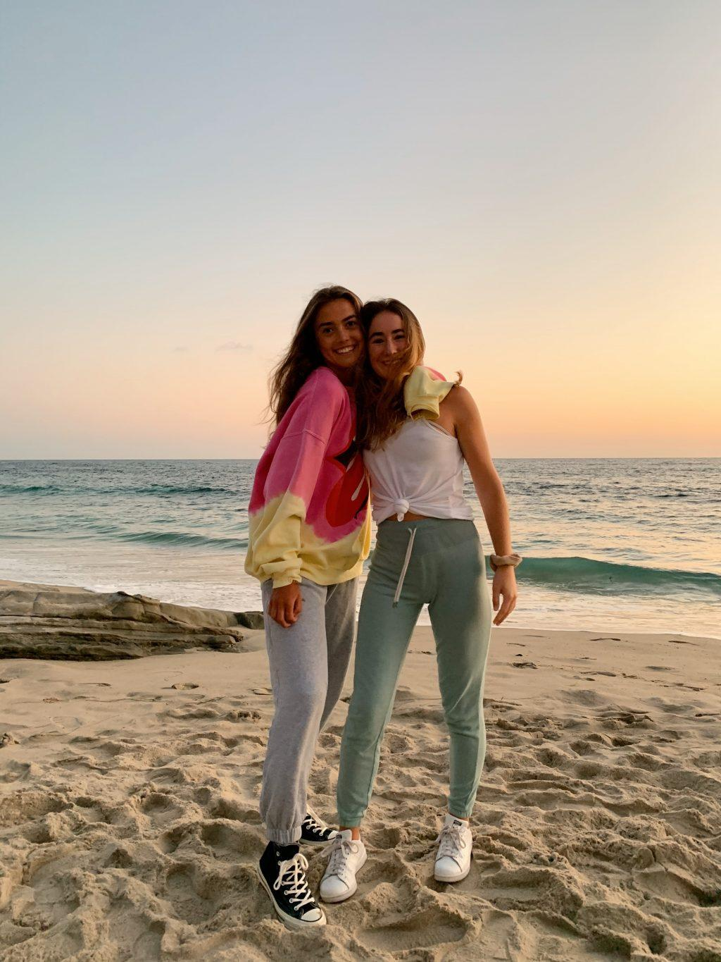 Ianni enjoys the sunset in Laguna Beach, Calif., with her friend Sophia in August. Ianni said the beach is her happy place and is where she feels most connected to God.