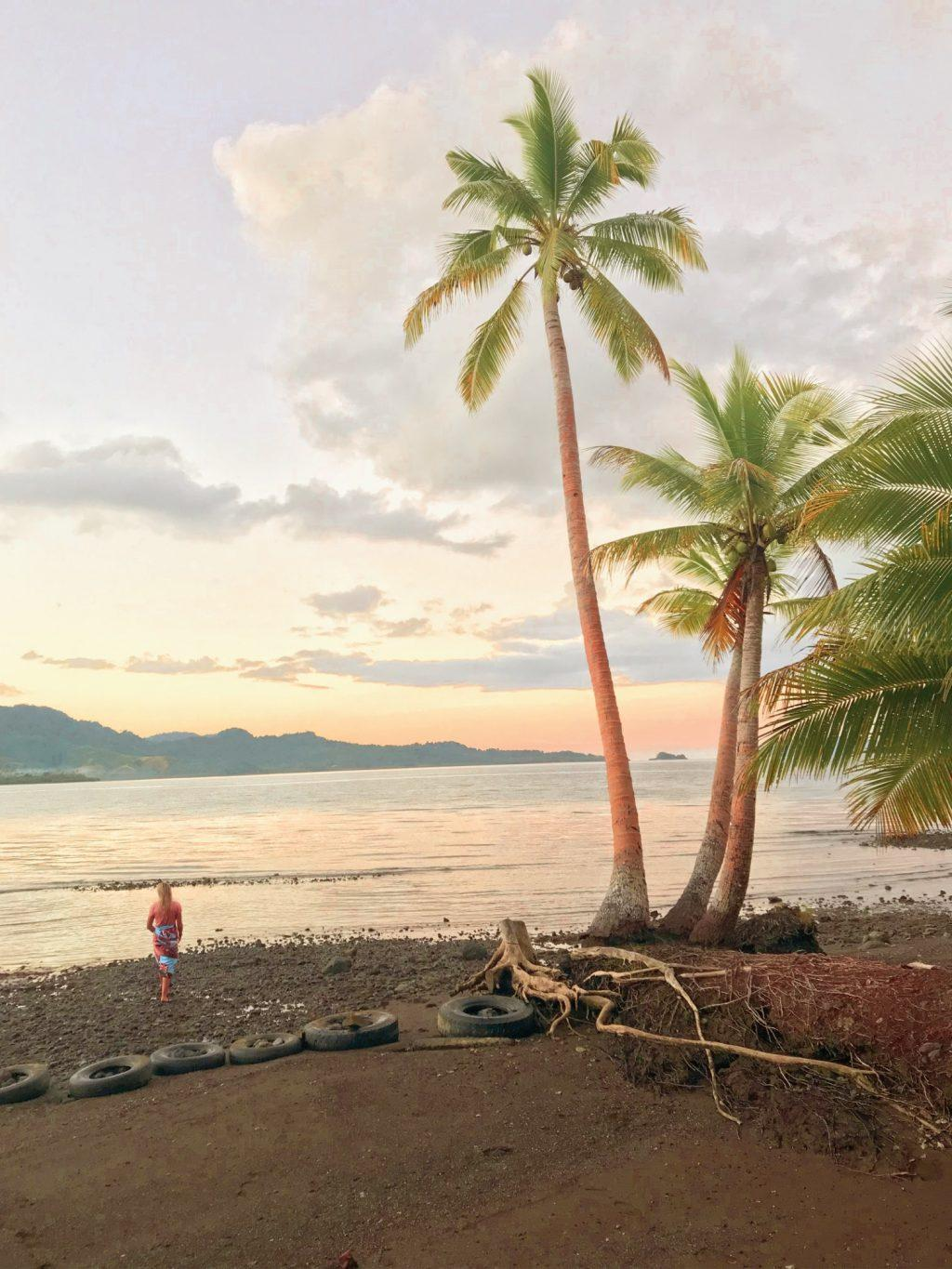 Armstrong walks on the beach on the island of Vanua Levu in Fiji in May 2019. Armstrong said she participated in the Pepperdine Medical and Service Mission in Fiji after spending a year abroad in Argentina.