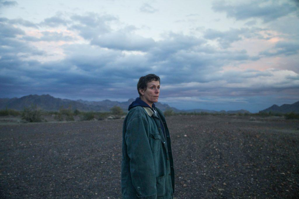 Fern (Frances McDormand) looks into the distance and contemplates where to go next. The van-dwellers did not always travel the same route together.