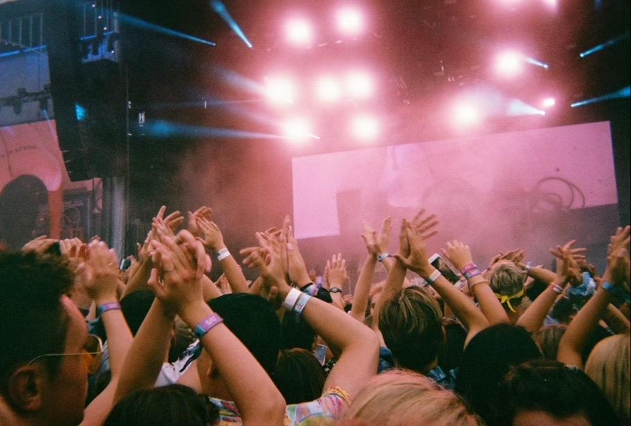 The crowd claps along while they watch their favorite acts at Outside Lands music festival in San Francisco, in August 2019. Outside Lands producers postponed the festival to October 29-31. Photo Courtesy of Cailey Benjamin