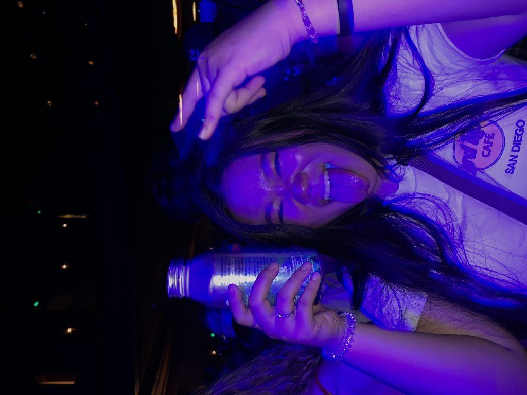 Woon rocks out at a P-Lo concert in Oakland, Calif., on Halloween in 2019. She said that was her favorite concert she has been to of an individual artist.