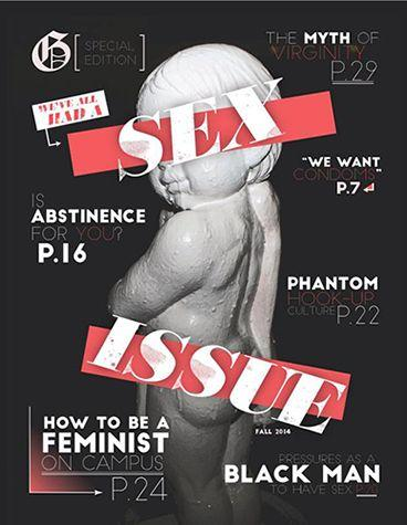 """The front page of the """"Sex Issue"""" of the Graphic features the Dolores statue that stands near the Tyler Campus Center on Pepperdine&squot;s campus. The Graphic published the """"Sex Issue"""" in 2014. Photo courtesy of the Graphic"""