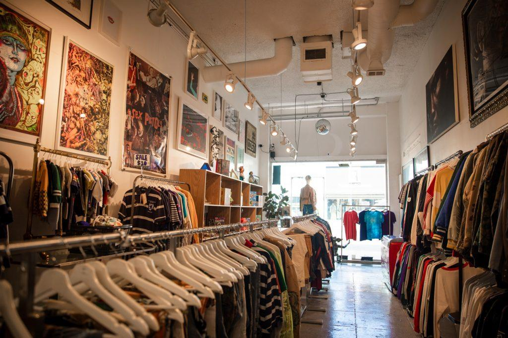 Hundreds of vintage items line the walls of clothing store RCNSTRCT studio. The store had a variety of unique items that made it impossible to resist.