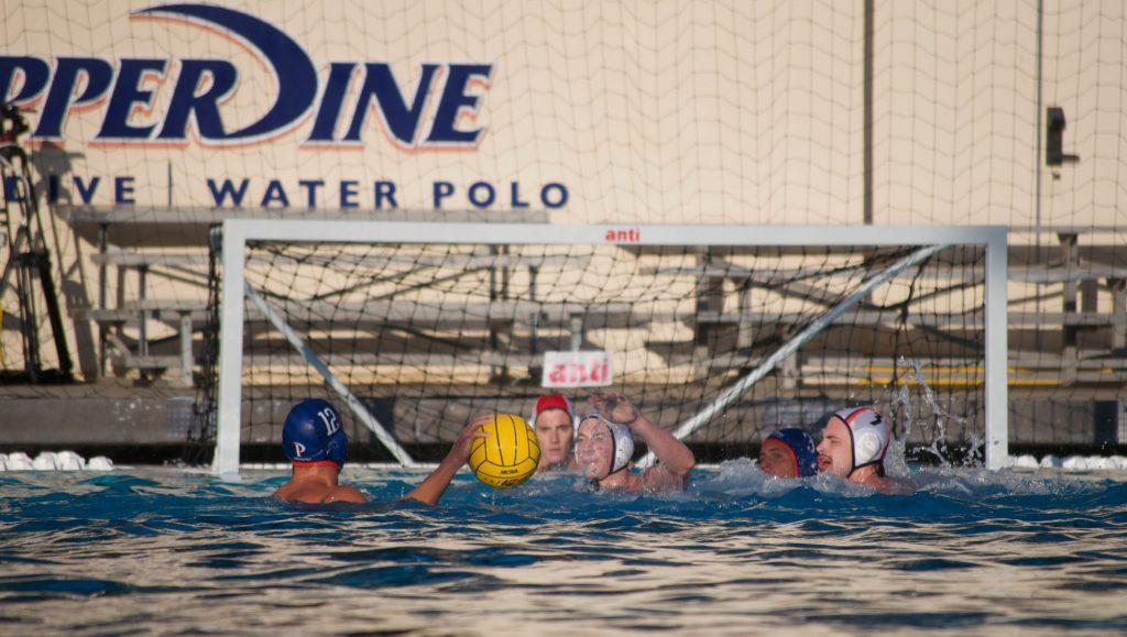 Senior attacker Balazs Kosa attempts a shot during the game Sept. 18. Following their games on Sept. 18, the Waves went 2-2 at the MPSF Invitational from Saturday, Sept. 24 through Sunday, Sept. 26. Photo by Ashton Bell