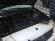 Car's Engine Catches Fire at Firestone Fieldhouse