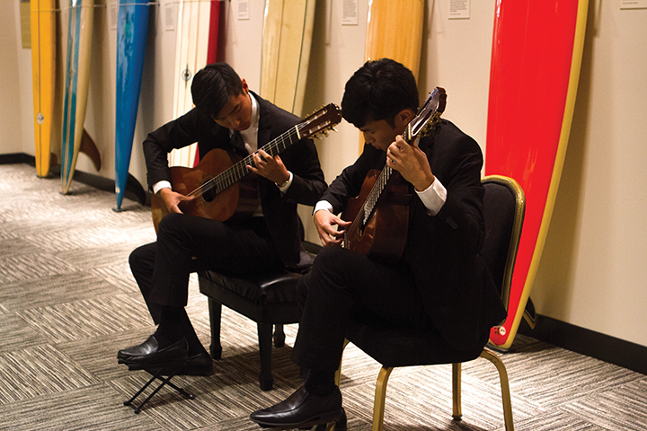 Photograph of Guitar Students in Concert by Sherry Yang