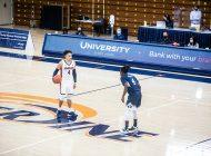 Men's Basketball Rallies, Stuns BYU
