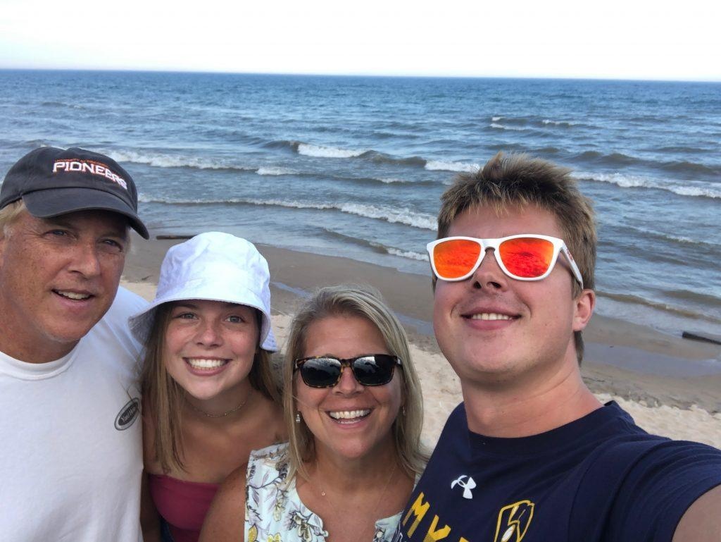 Wideen enjoys a road trip with her family to Lake Michigan in Sheboygan, Wis., in September. Wideen said she loves being in nature.